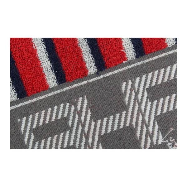 Modro-červený uterák Beverly Hills Polo Club Lawson, 50×100cm