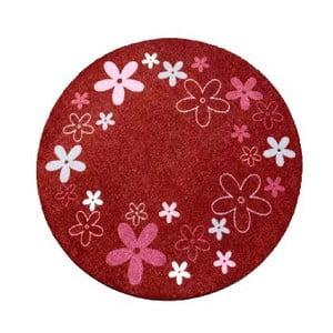 Koberec Deko - červené kvietky, 100 cm