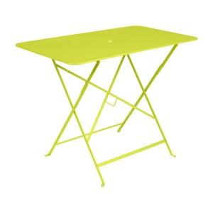 Svetlozelený záhradný stolík Fermob Bistro, 97×57 cm