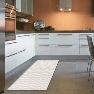 Vysokoodolný kuchynský koberec Webtappeti Optical Beige, 60×220cm