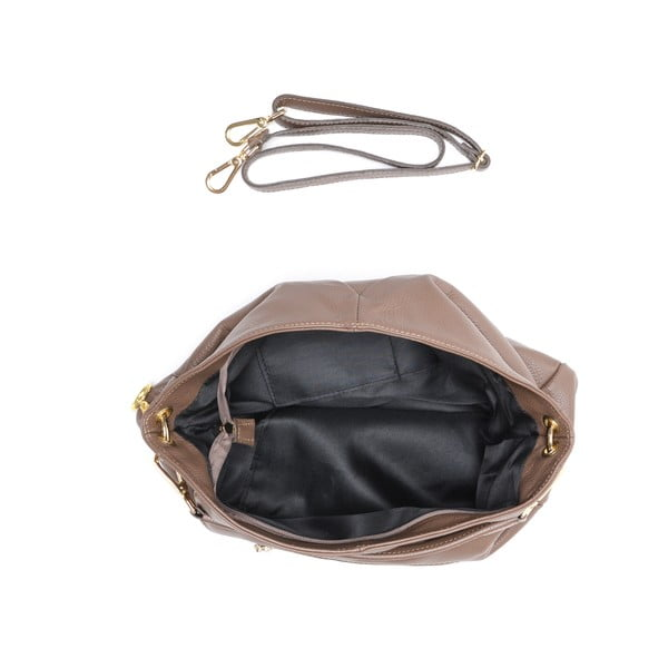 Kožená kabelka Fila, hnedá