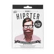 Set nafukovacích fúzov a okuliarov NPW Hipster For The Day