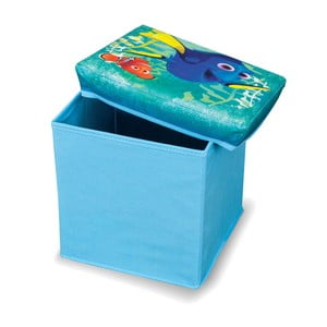 Modrá úložná taburetka na hračky Domopak Finding Dory, dĺžka 30 cm