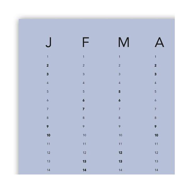 Nástenný kalendár SNUG.Column, modrý