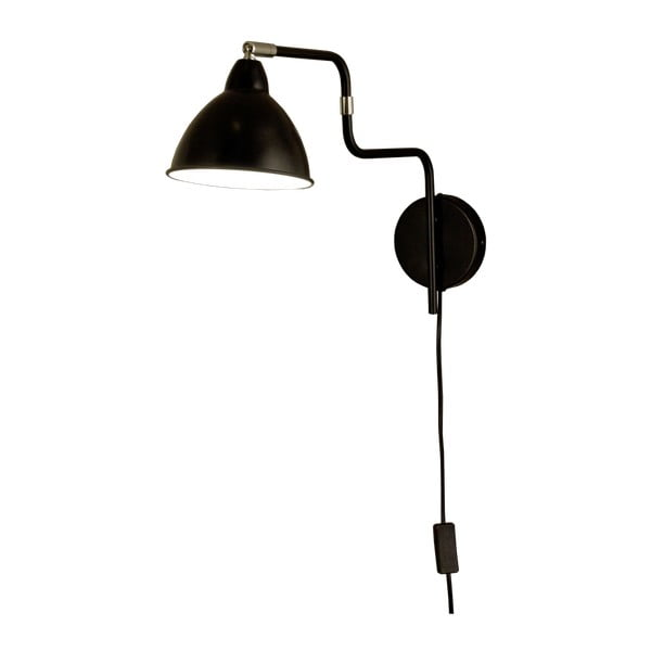 Čierne nástenné svietidlo Scan Lamps Ally
