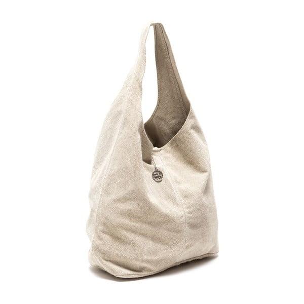 Kožená kabelka Perlita, béžová