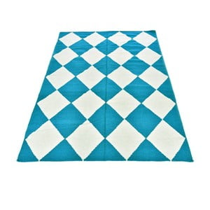 Vlnený koberec Geometry Classic Turquoise, 160x230 cm