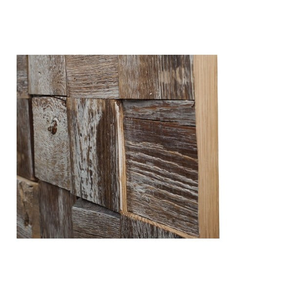 Nástenná dekorácia Wooden White, 60x60 cm
