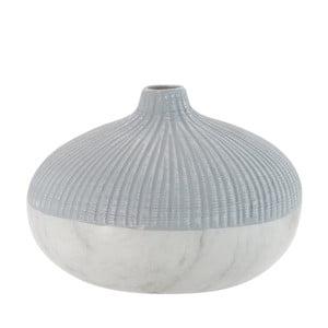 Váza Marble Look Grey, 17 cm