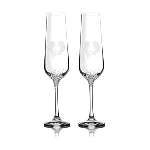 Sada 2 pohárov na šampanské Grace so Swarovski Elements v luxusnom balení