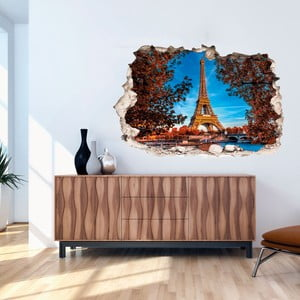 3D samolepka na stenu Ambiance Eiffel Tower in Autumn