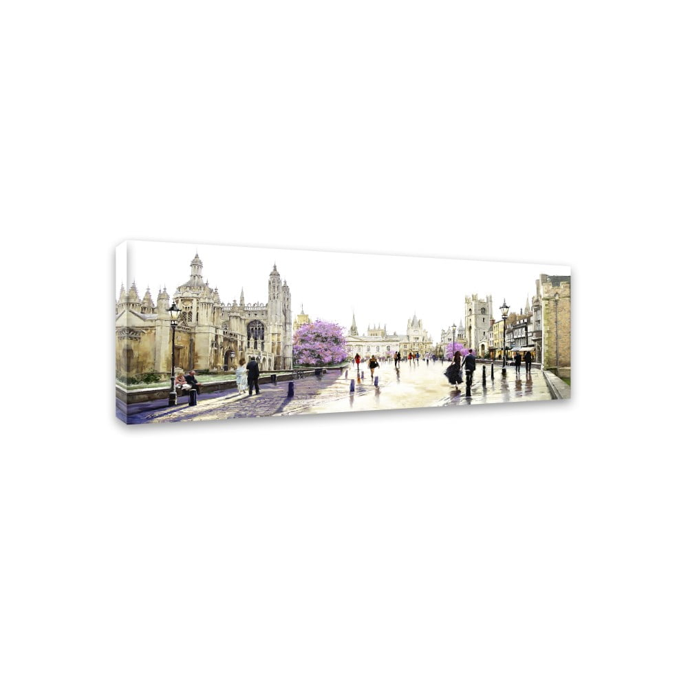 Obraz Styler Canvas Watercolor Cambridge 45 × 140 cm