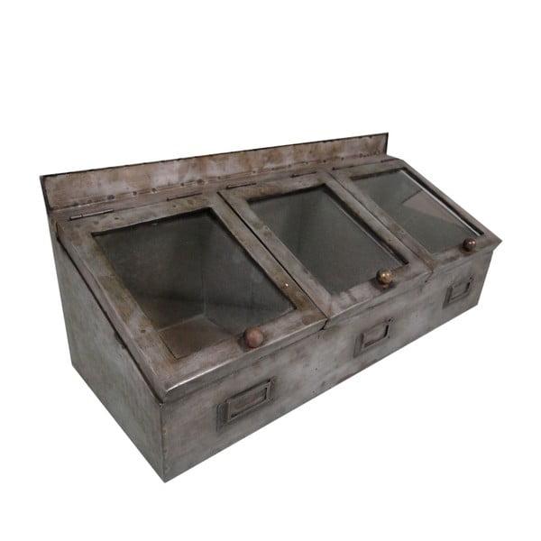 Trojitý úložný box Antic Line Zinc