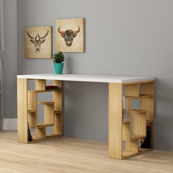 Pracovný stôl Labyrint, biela doska