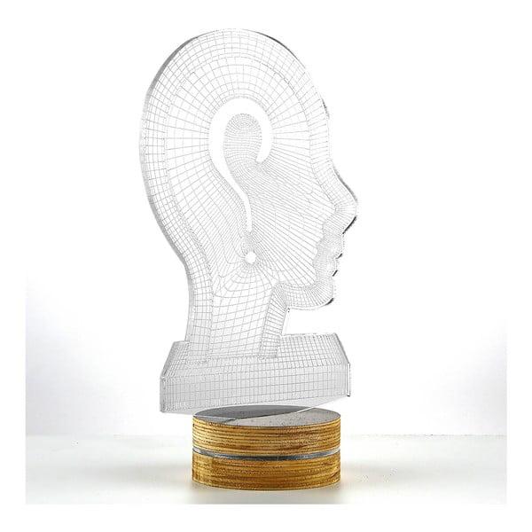 3D stolová lampa Head