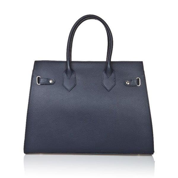 Modrá kožená kabelka Giorgio Costa Perugia
