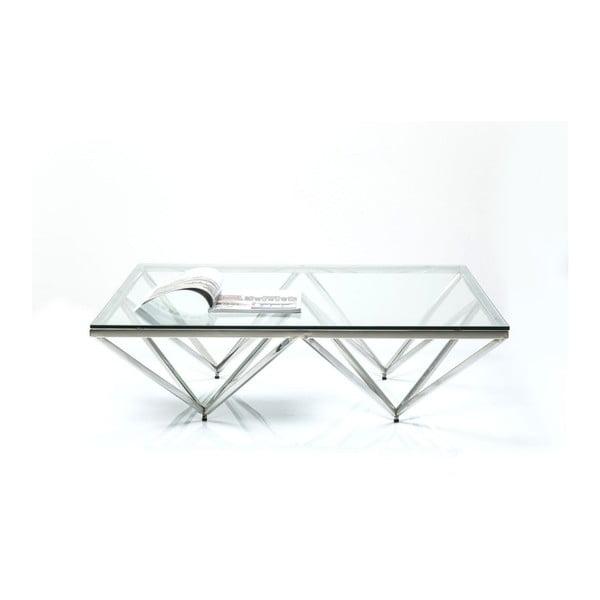 Konferenčný stolík s podnožou v striebornej farbe Kare Design Network
