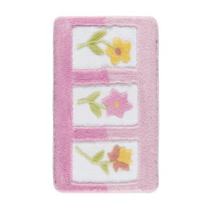 Ružová predložka do kúpeľne Confetti Bathmats Anjelik, 60×100cm
