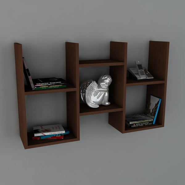 Polica Gues Book Wenge, 22x97x59,5 cm