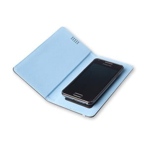 Modré puzdro na telefón Moleskine Book, extra veľké