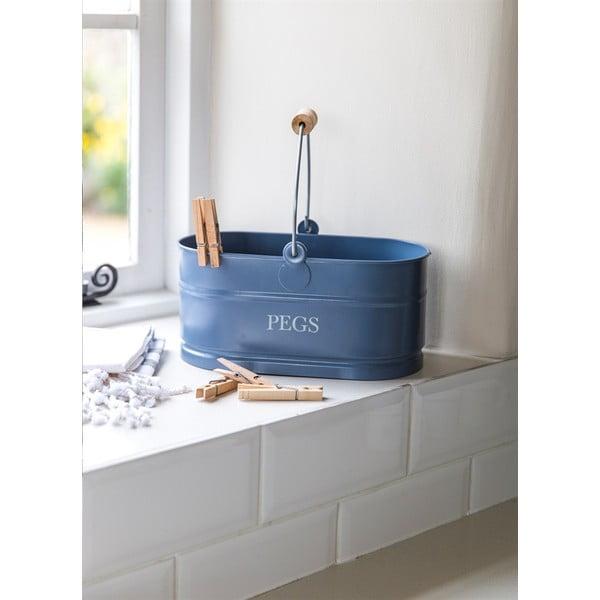 Košík na štipce Peg Bucket, modrý