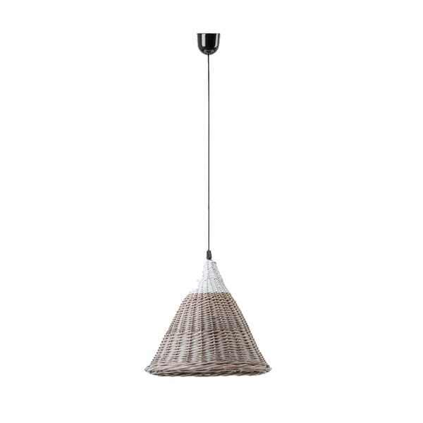 Stropné svetlo Kapi, 31x40 cm, hnedé