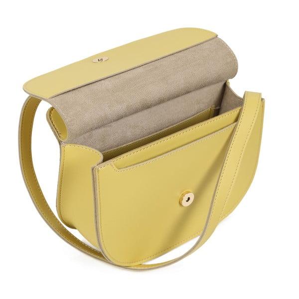 Žltá kabelka z eko kože Beverly Hills Polo Club Carla