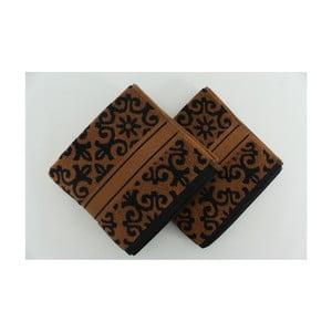 Sada 2 osušiek Shiraz Brown Black, 50x90 cm