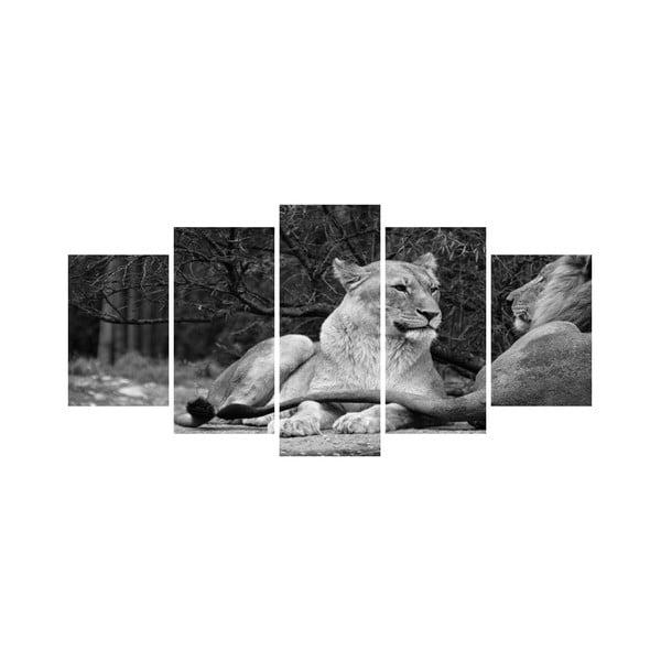 Viacdielny obraz Black&White no. 72, 100x50 cm