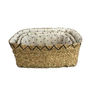 Sada 3 dekoratívnych košov z pleteného rákosia Maiko Geo