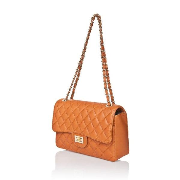 Kožená kabelka Markese 6999 Cognac