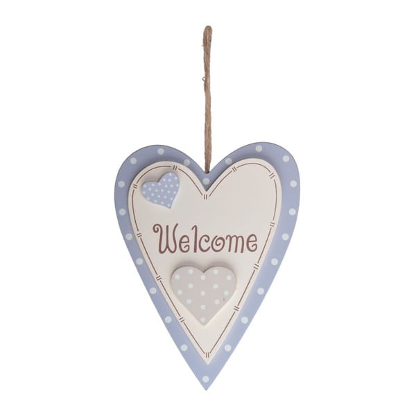 Drevená dekorácia Welcome Heart
