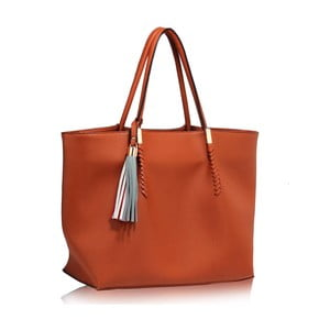 Horčicovohnedá kabelka L & S Bags Print
