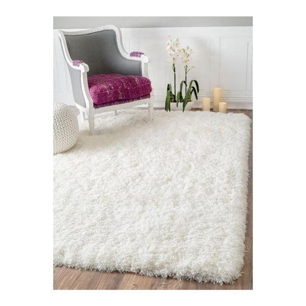Ručne tuftovaný biely koberec nuLOOM Fluffy White, 152 x 244 cm