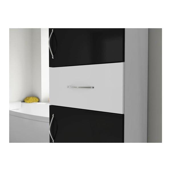 Skriňa do kúpeľne Nergis Black/White