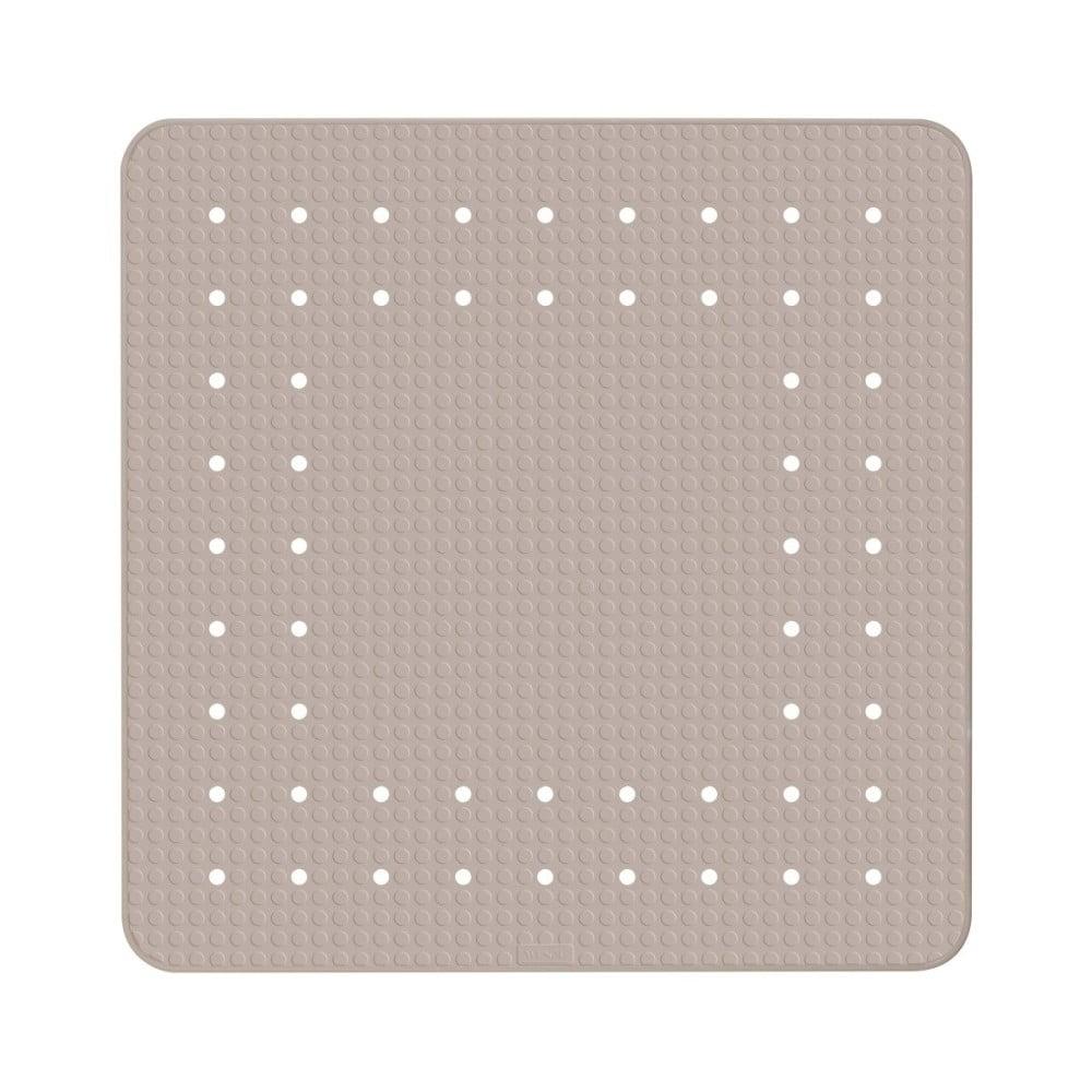 Sivobéžová protišmyková kúpeľňová podložka Wenko Mirasol, 54 × 54 cm