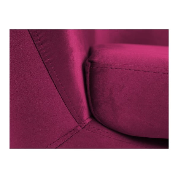 Ružové kreslo s čiernymi nohami Mazzini Sofas Amelie