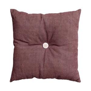 Vankúš s výplňou Button 45x45 cm, ružový