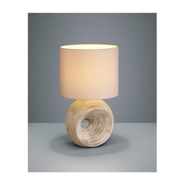 Béžová stolová lampa z keramiky a tkaniny Trio Tanta, výška 51 cm