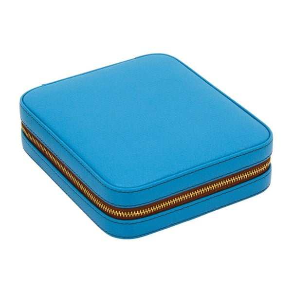 Puzdro na šperky Ascot Zip Azure Blue