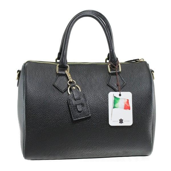 Čierna kožená kabelka Rossi