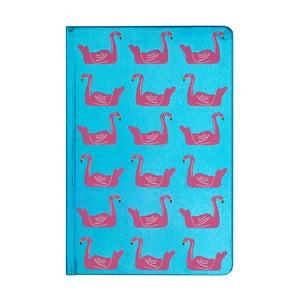 Zápisník Tri-Coastal Design Flamingo Family, 96 stránok