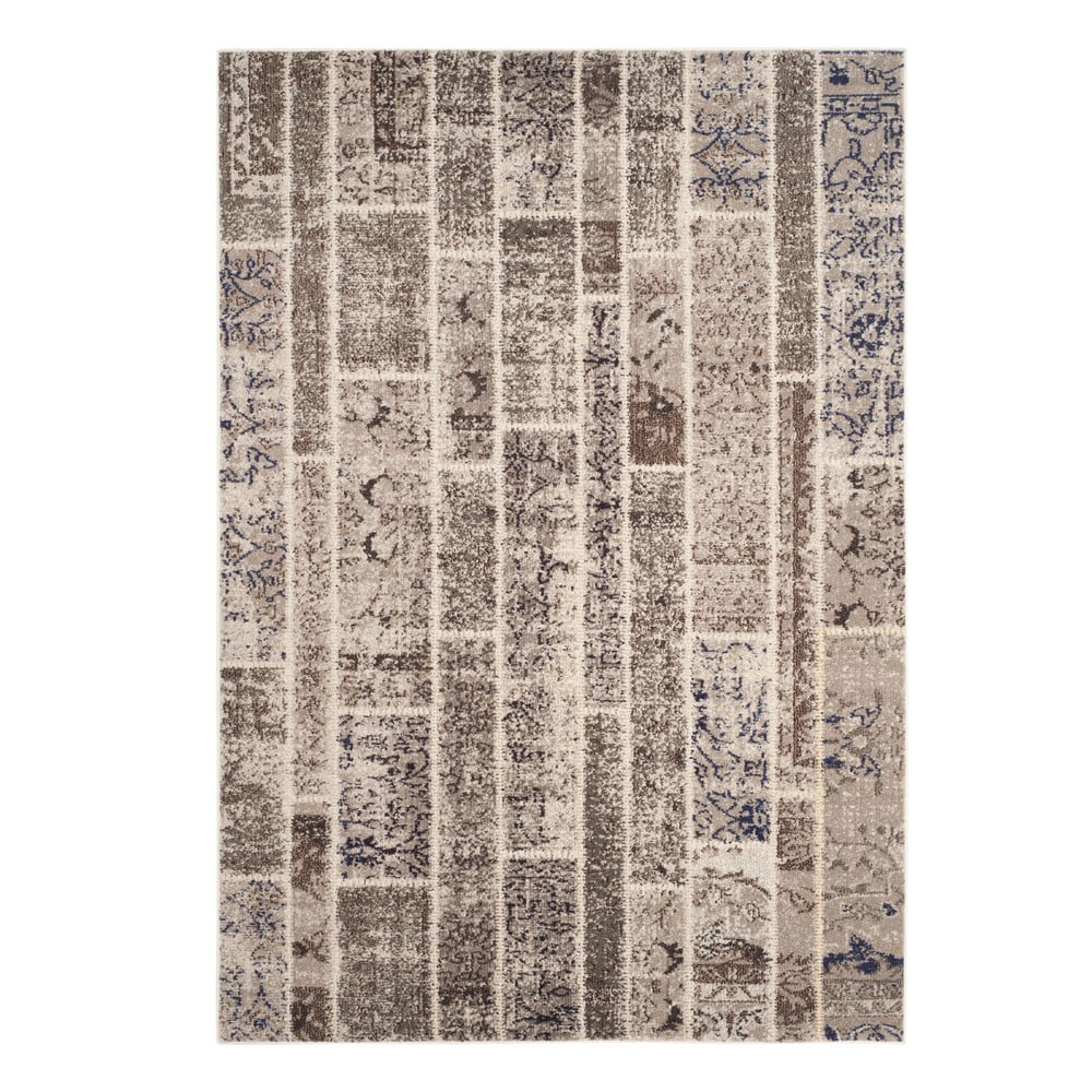 Koberec v sivo-hnedej farbe Safavieh Effi Brown, 200 x 279 cm