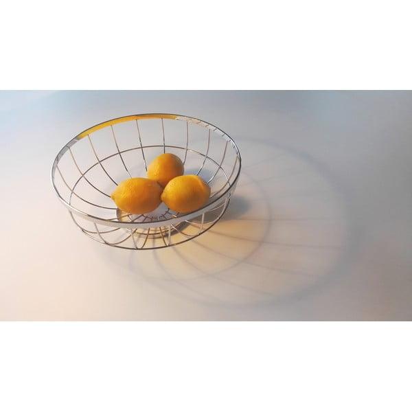Misa na ovocie v striebornej farbe PT LIVING Grid, Ø28 cm