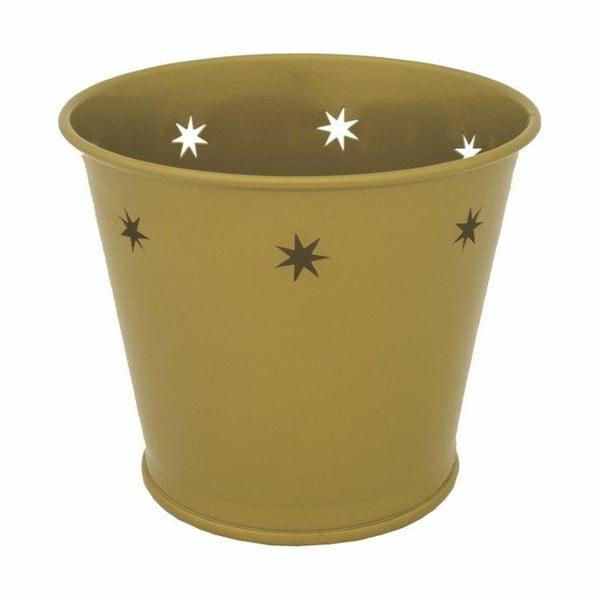 Kovový kvetináč Kovotvar s motívom hviezdy, 1.5 l