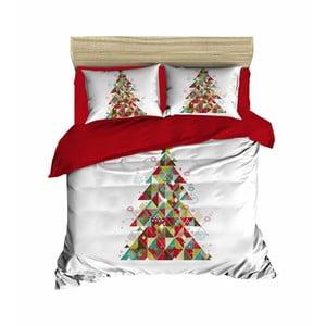 Vianočné obliečky na dvojlôžko s plachtou Ivana, 160×220 cm