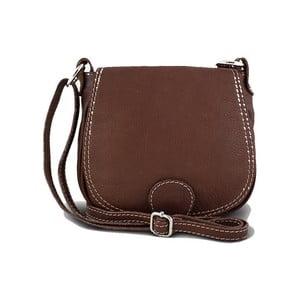 Hnedá kabelka z pravej kože GIANRO  Achieve 5cb7181b09d
