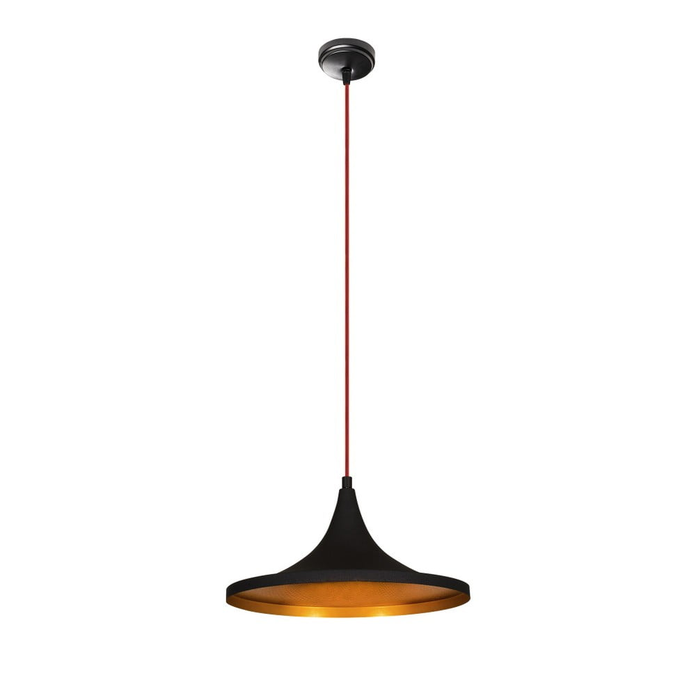 Čierne kovové závesné svietidlo Opviq lights Leon