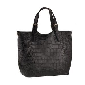 Kožená kabelka Pesca, čierna