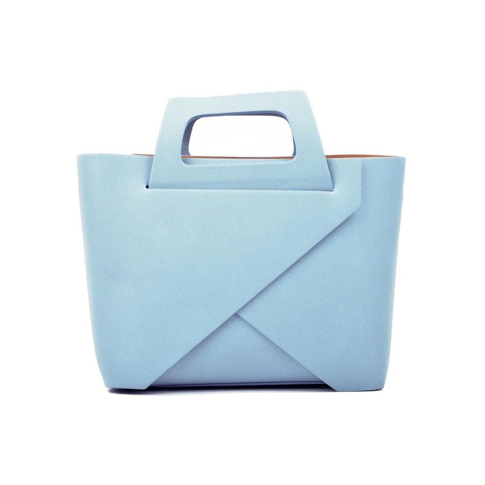 Svetlomodrá kožená kabelka Carla Ferreri Cross Celeste